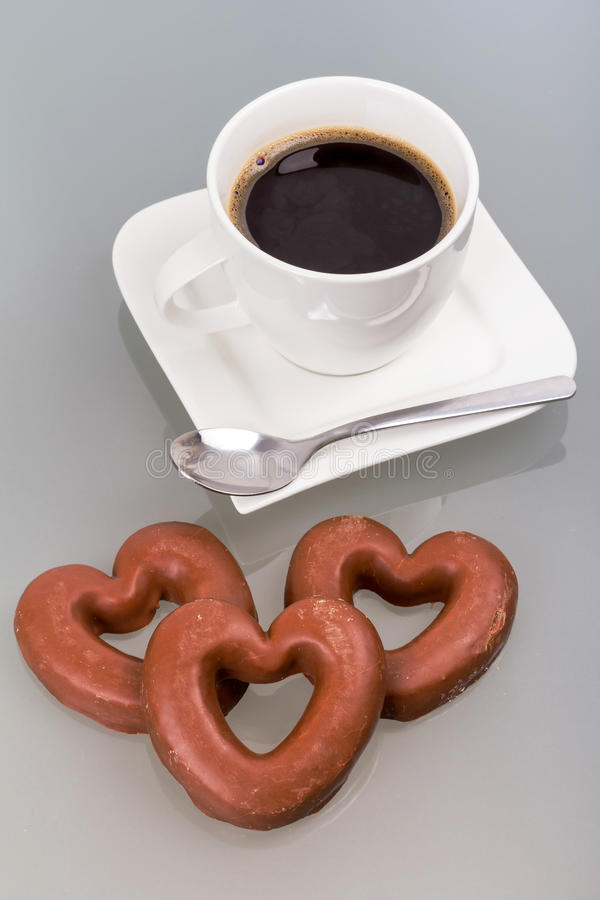 Download Gingerbread Hearts To The Coffee Stock Photo - Image: 29006280