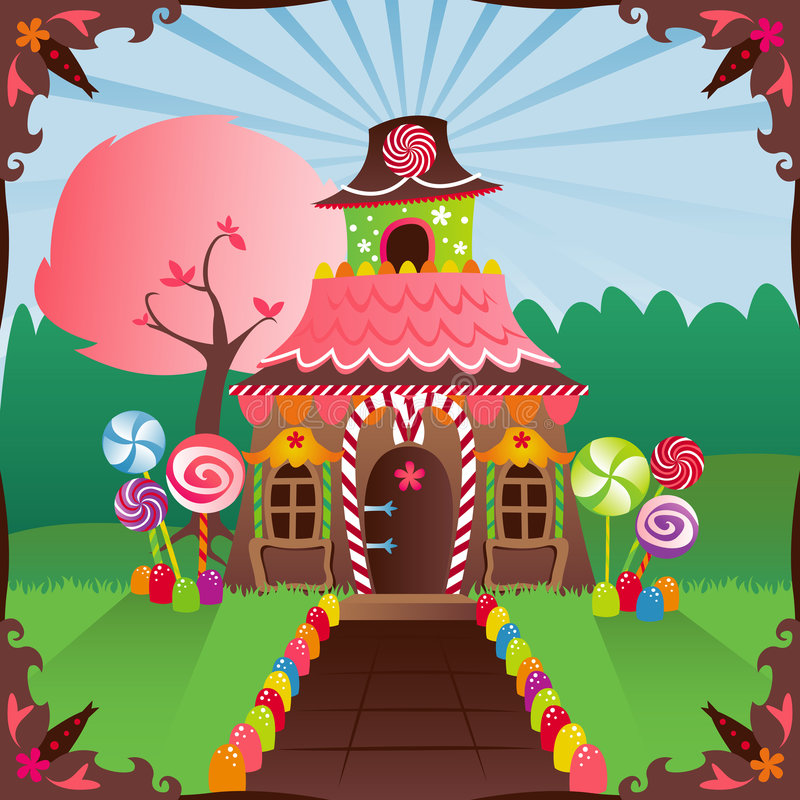 Download Gingerbread House stock vector. Image of candy, house - 1292294