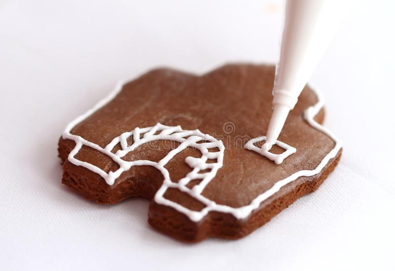 Download Gingerbread house stock photo. Image of bake, object - 28308126