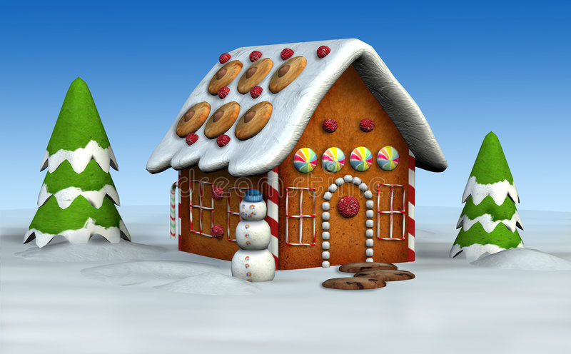 Gingerbread House royalty free illustration