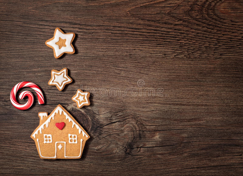 Gingerbread House Cookie stock photo