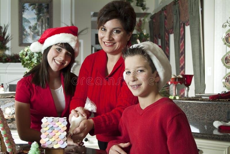 Gingerbread House Fun Stock Image