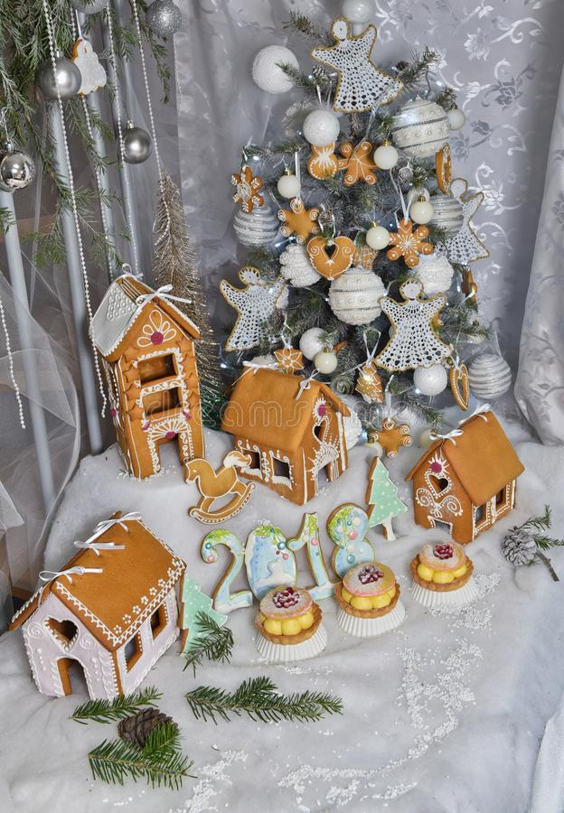 Gingerbread house 2018 stock image