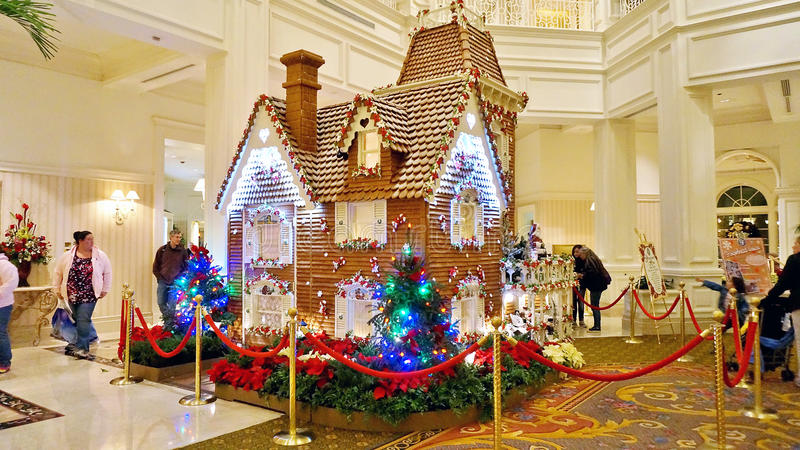 Gingerbread House at Grand Floridian Hotel stock images