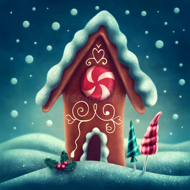 Gingerbread house vector illustration