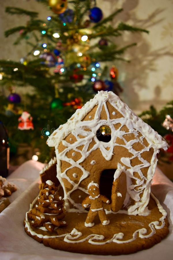 The gingerbread house. stock photos