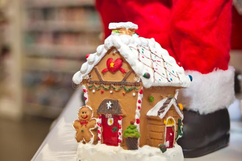 Gingerbread house in the shopping mall is one of the main Christmas symbols royalty free stock images