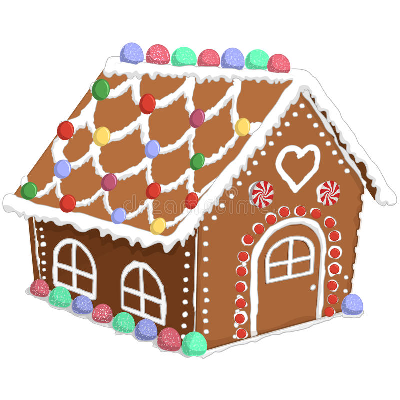 Gingerbread House Stock Vector Illustration Of Baking