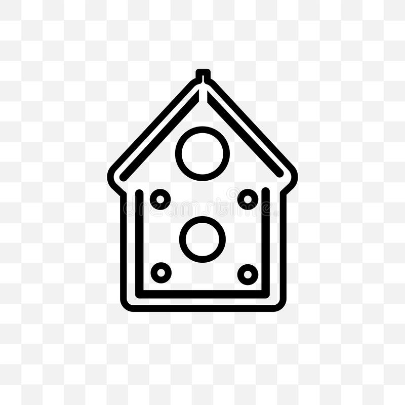 Gingerbread house vector linear icon isolated on transparent background, Gingerbread house transparency concept can be used for we. B and mobile royalty free illustration