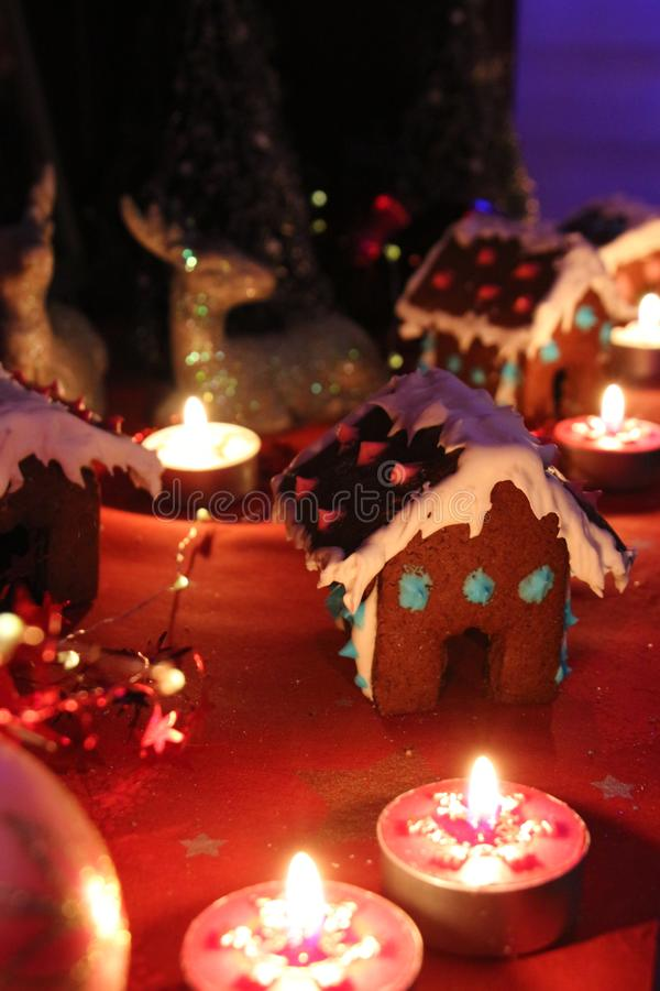 Gingerbread houses royalty free stock photo
