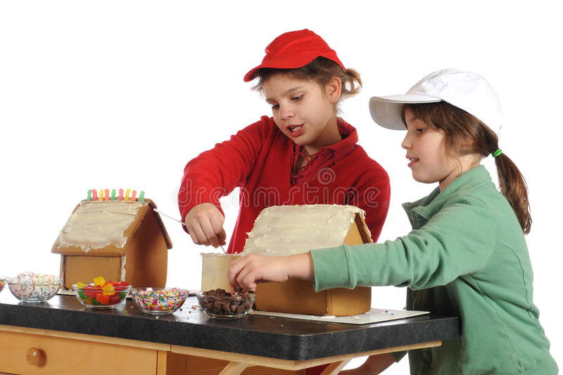 Gingerbread Houses Together royalty free stock photo