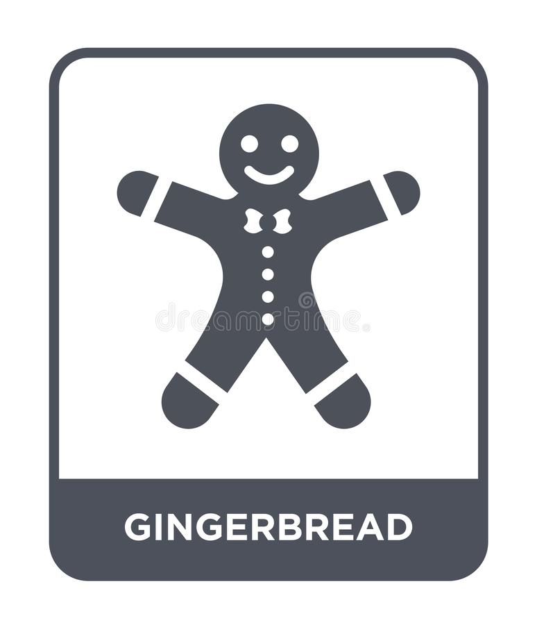 Gingerbread icon in trendy design style. gingerbread icon isolated on white background. gingerbread vector icon simple and modern. Flat symbol for web site vector illustration