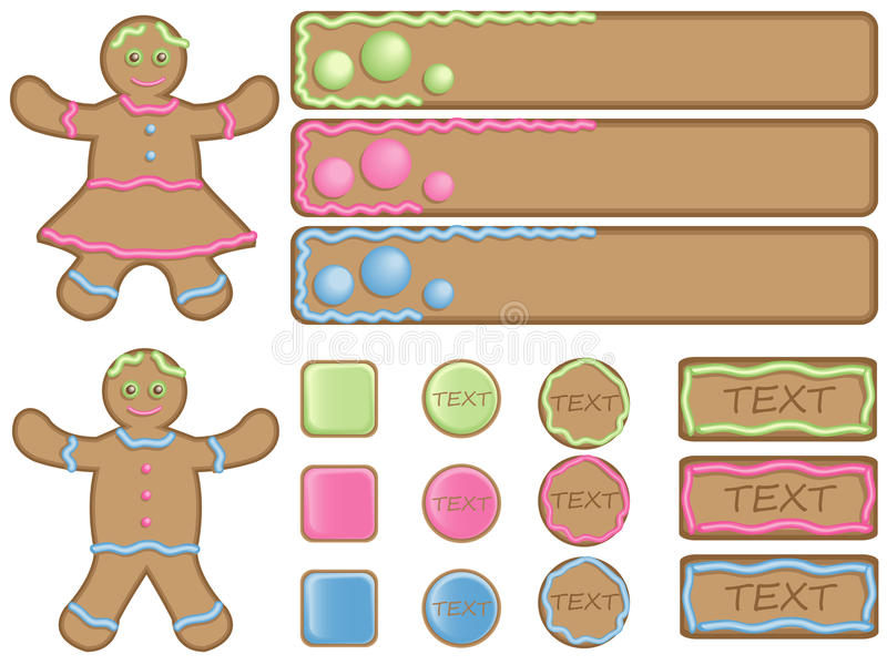 Download Gingerbread Icons And Banners Stock Illustration - Image: 13126291