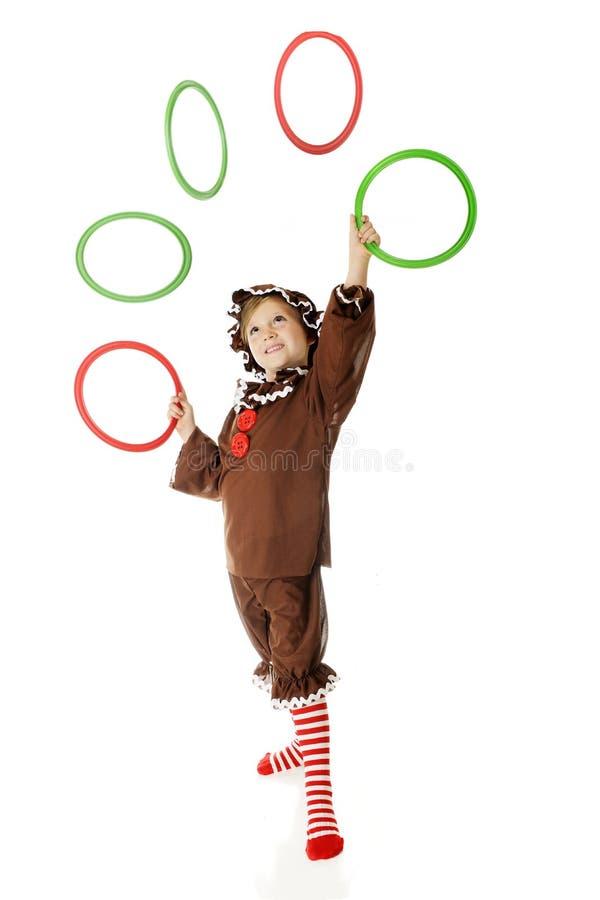 Gingerbread Juggler stock image