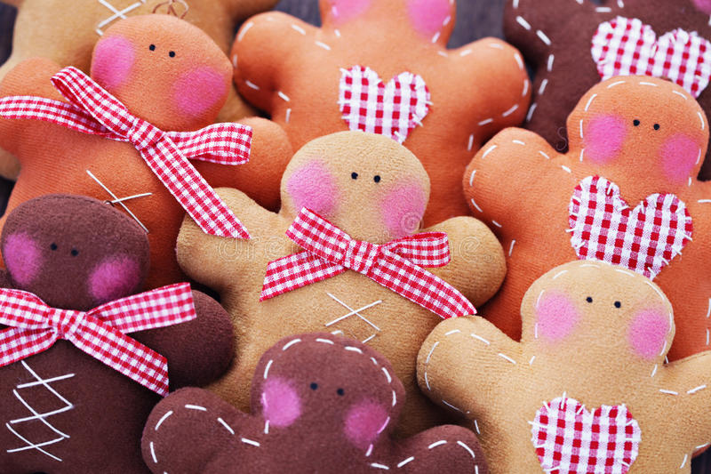 Gingerbread Man. As a Christmas Decoration - Christmas time stock images