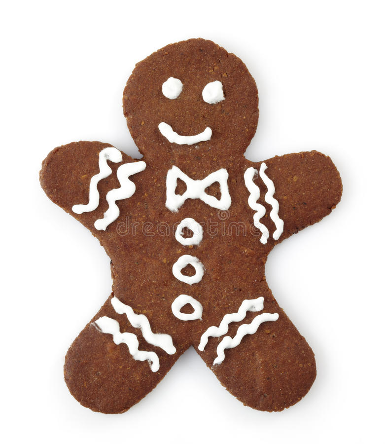 Gingerbread man. On white background stock image