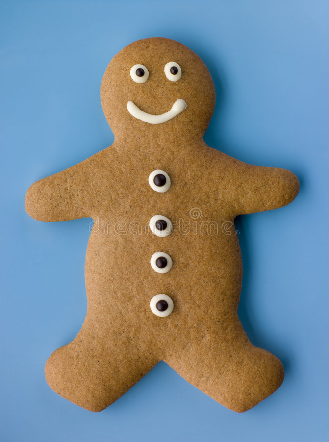 Gingerbread Man. High angle view of Gingerbread Man royalty free stock photos