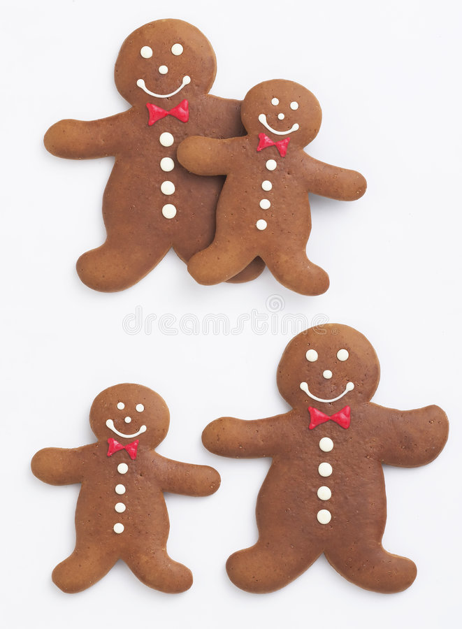 Gingerbread Man. The gingerbread man Isolated on white background royalty free stock photo