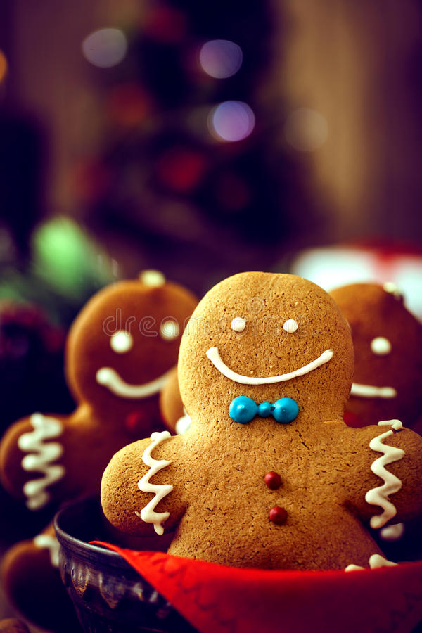Gingerbread man. Christmas food. Gingerbread man cookies in Christmas setting. Xmas dessert royalty free stock images