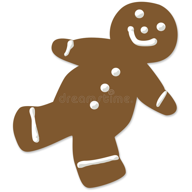 Download Gingerbread man cookie stock illustration. Image of icing - 6830623
