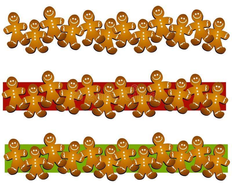 gingerbread man cookie borders stock illustration illustration of rh dreamstime com