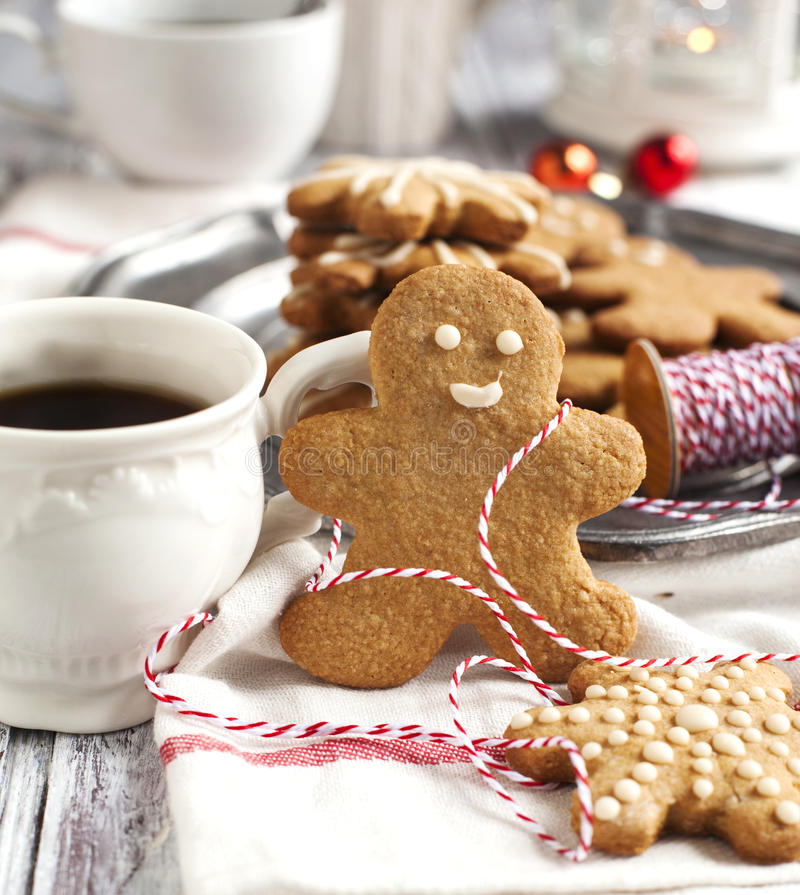 Gingerbread man. stock images