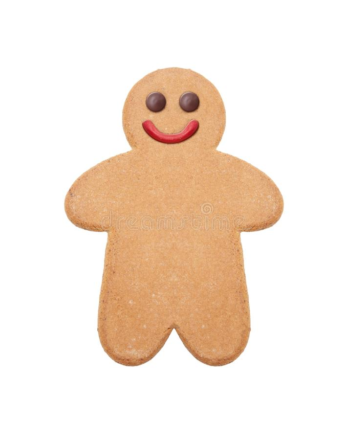 Gingerbread man, on white background. Gingerbread man, cookie on white background royalty free stock photography