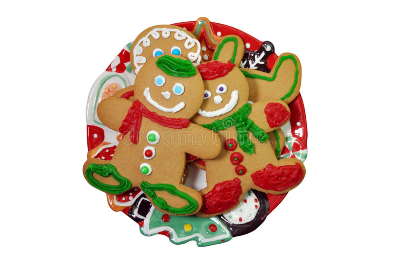 Download Gingerbread Man Cookies stock photo. Image of scarf, plate - 7163456