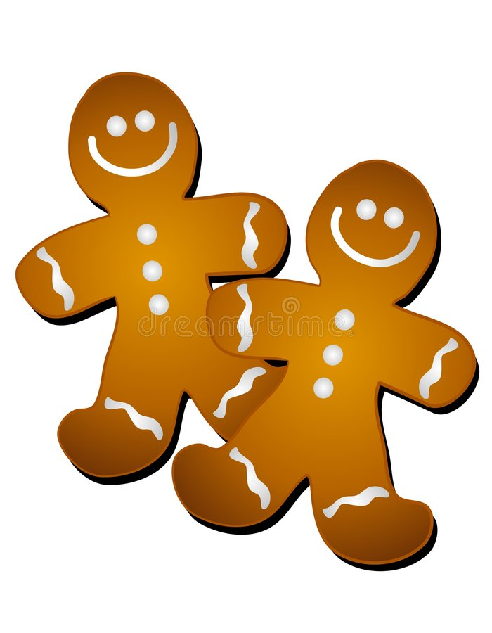 gingerbread man cookies clip art stock illustration illustration rh dreamstime com clip art gingerbread man outline free christmas clipart gingerbread man