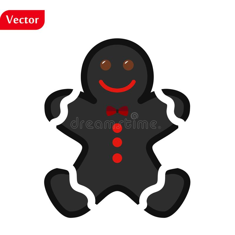Gingerbread man icon, vector illustration design. Christmas collection. eps10 royalty free stock image