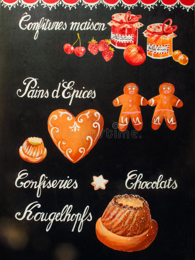 Gingerbread man illustration. On background royalty free stock images