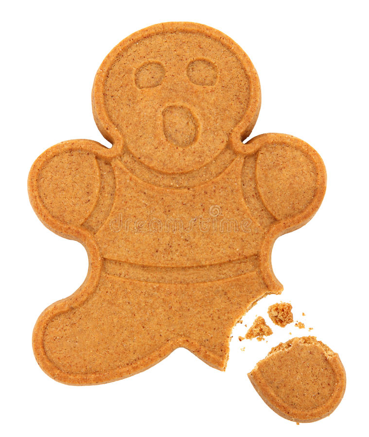 Gingerbread Man Isolated stock photo