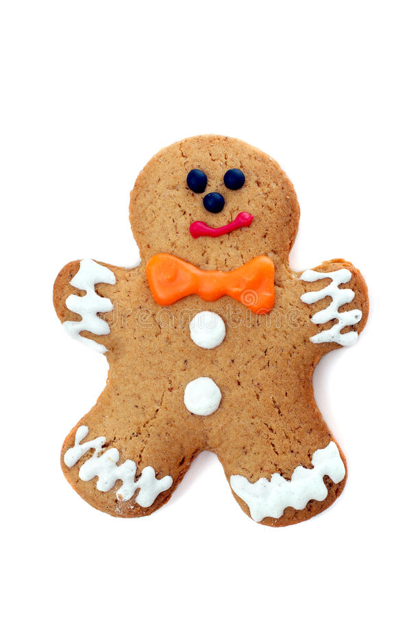 Gingerbread man. Isolated on white background stock images