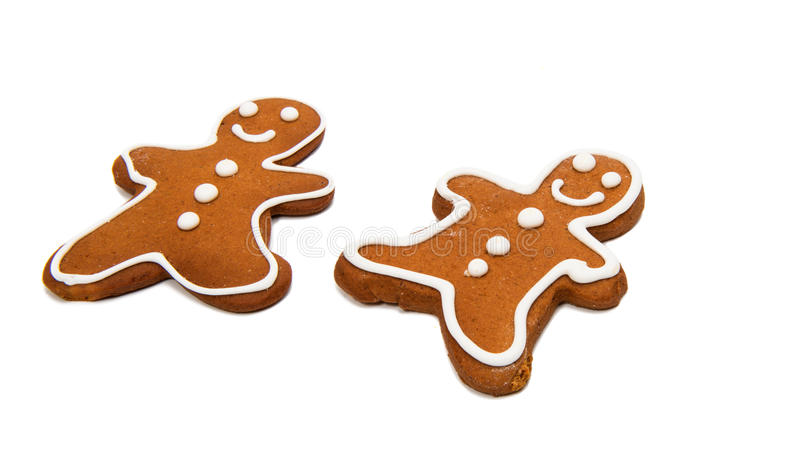 Gingerbread man. Isolated on white background royalty free stock photo