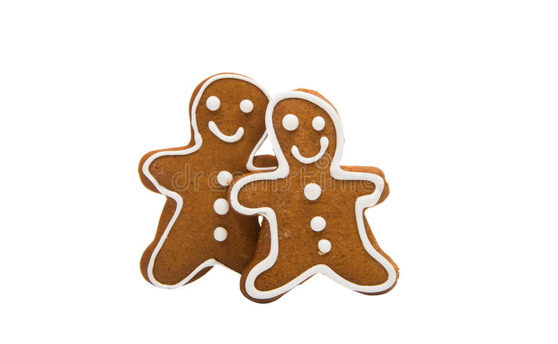 Gingerbread man. Isolated on white background stock image
