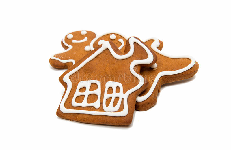 Gingerbread man. Isolated on white background royalty free stock photography