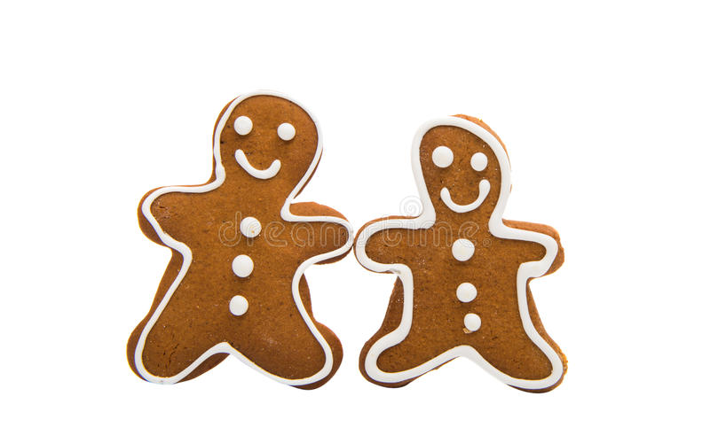 Gingerbread man. Isolated on white background stock photography