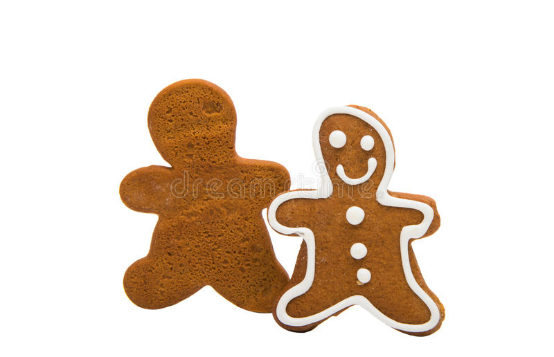 Gingerbread man. Isolated on white background royalty free stock photos