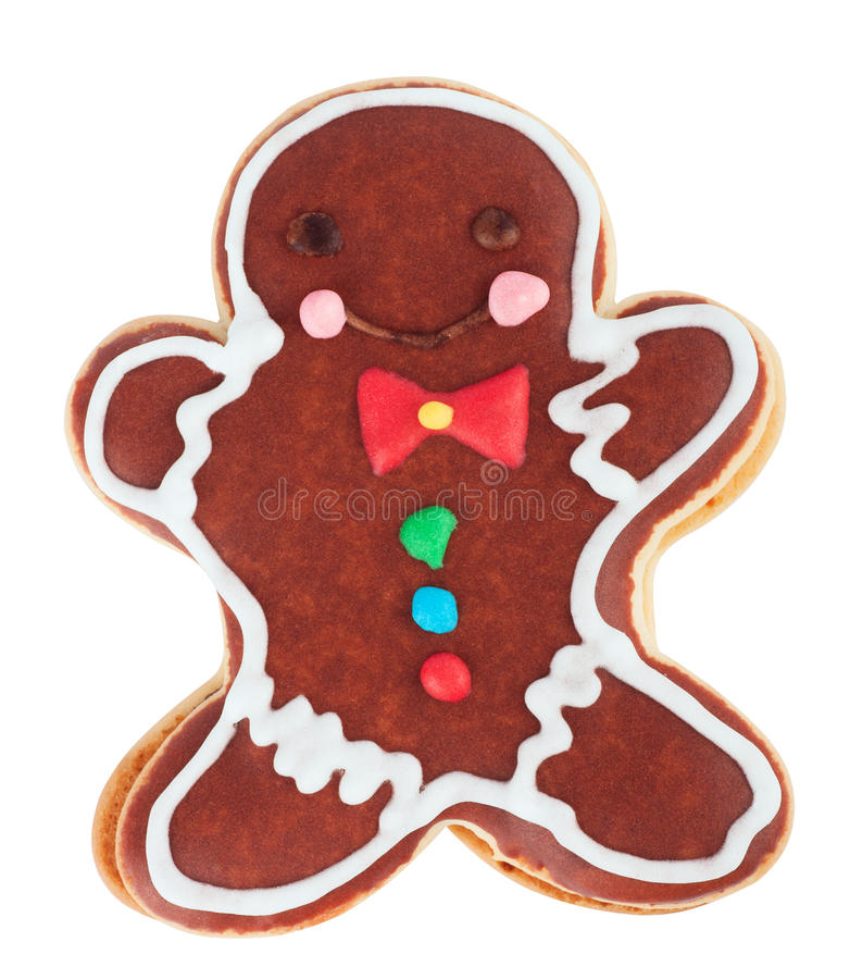 Gingerbread man isolated on white background stock images