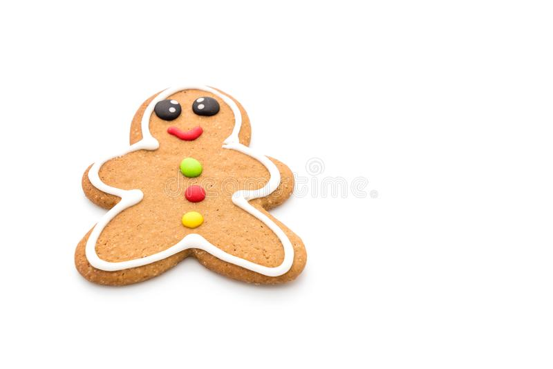 Gingerbread man isolated on white. Background stock photography