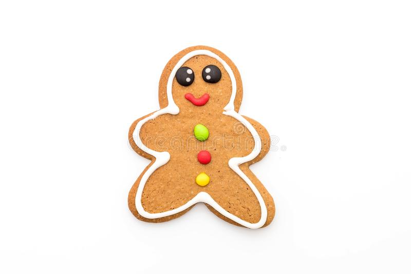 Gingerbread man isolated on white. Background royalty free stock images