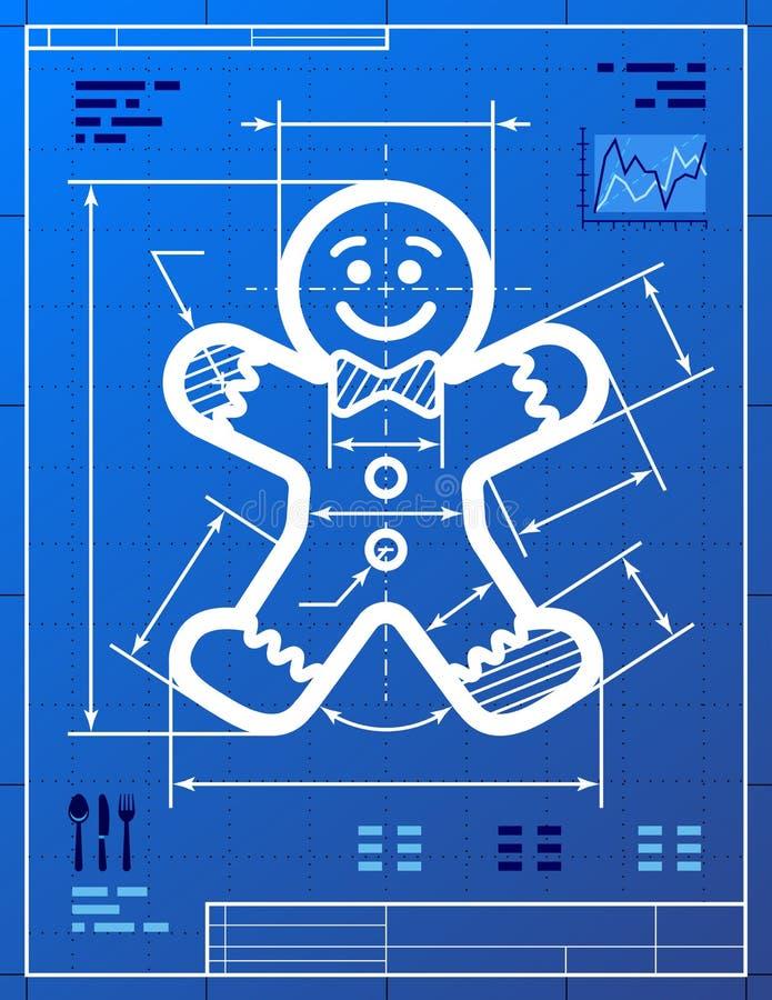 Gingerbread man symbol like blueprint drawing stock vector download gingerbread man symbol like blueprint drawing stock vector illustration of christmas navidad malvernweather Choice Image