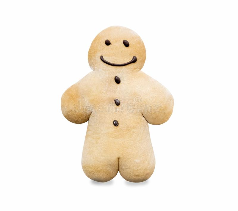 Gingerbread man - traditional sweet biscuits. Sprinkled with powdered sugar royalty free stock photo