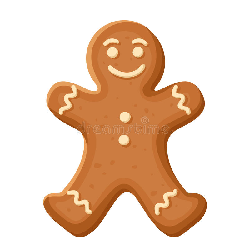 Free Gingerbread Man. Vector Christmas Cookie. Stock Photos - 46536613