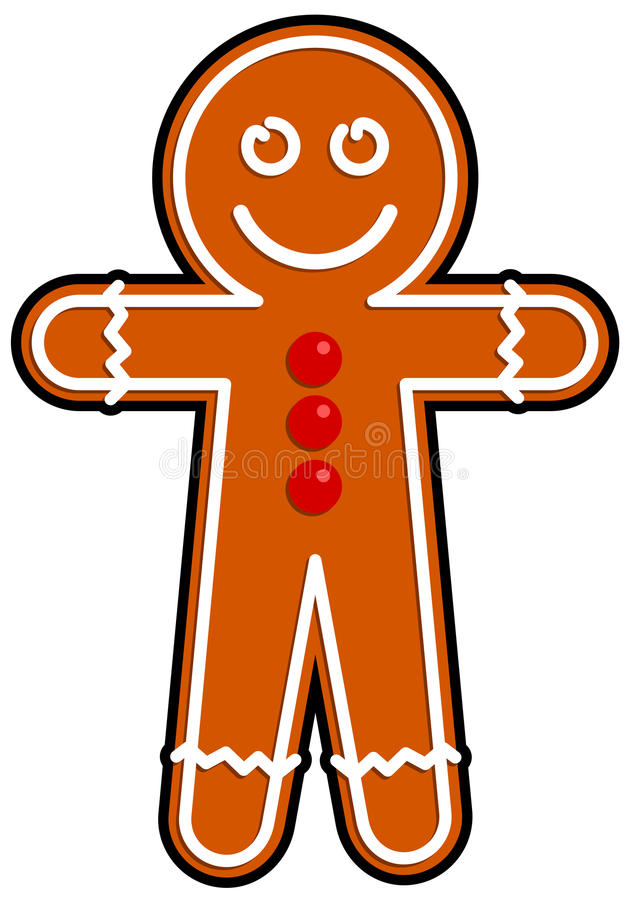 Gingerbread man vector illustration