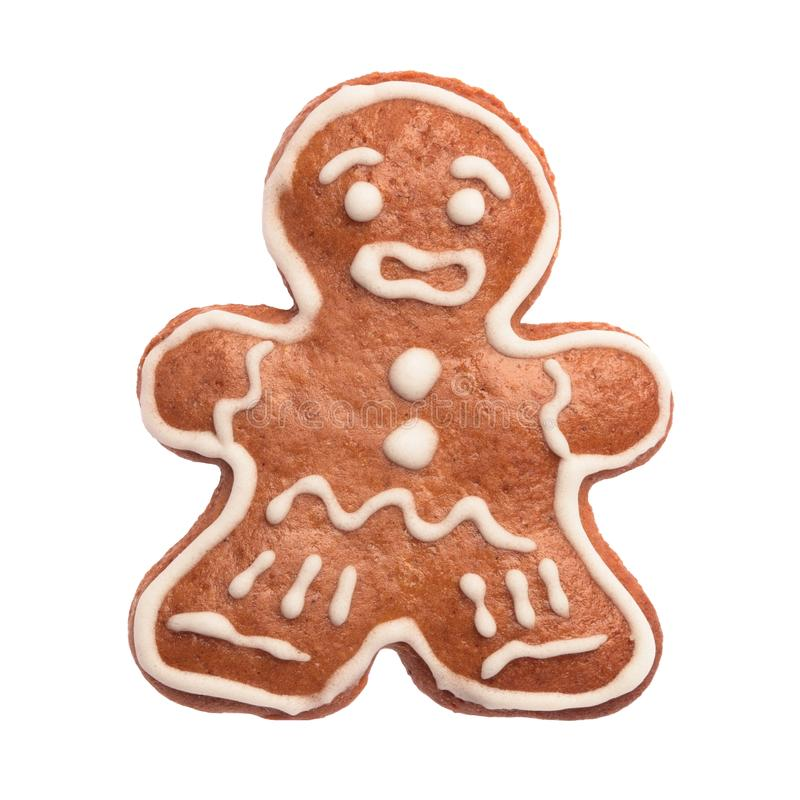 Gingerbread man. On white background royalty free stock images