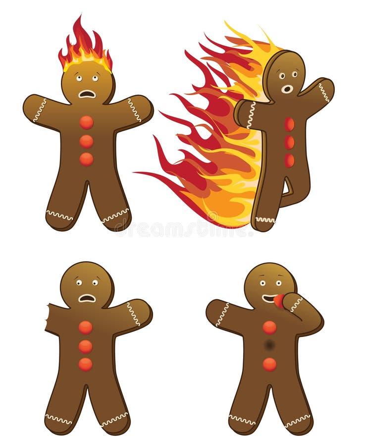 Gingerbread men stock illustration