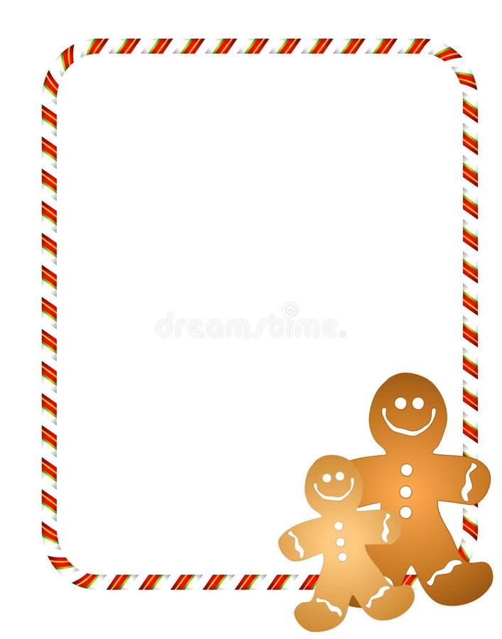 Gingerbread Men Border royalty free illustration