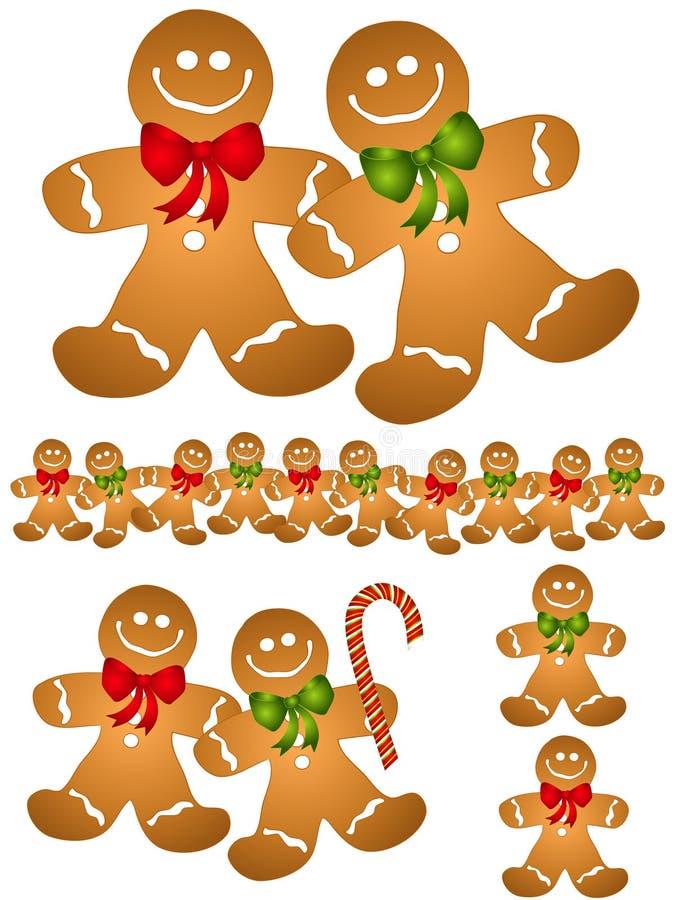 gingerbread men clip art stock vector illustration of christmas rh dreamstime com Candyland Gingerbread Man Clip Art gingerbread man clipart black and white