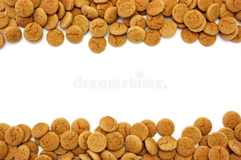 Gingerbread Nuts With Copyspac Royalty Free Stock Photos